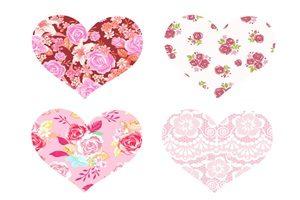 薔薇 バラ ハート型 イラスト 壁紙 背景 無料 フリー