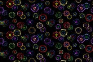 花火 イラスト 背景 壁紙 パターン 無料 フリー