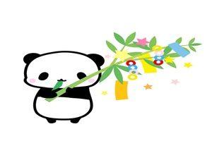 七夕 イラスト 動物 パンダ 無料 フリー