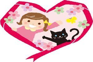 黒猫 イラスト かわいい 背景 無料 フリー