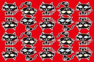 黒猫 イラスト 壁紙 背景 パターン 無料 フリー