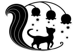 猫 イラスト シルエット 白黒 無料 フリー