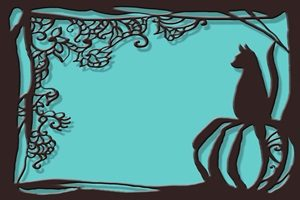 黒猫 イラスト 壁紙 背景 シルエット 無料 フリー