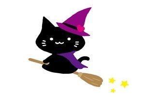 黒猫 イラスト かわいい ハロウェイン 無料 フリー