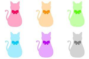 猫 イラスト シルエット カラー 無料 フリー おすすめ