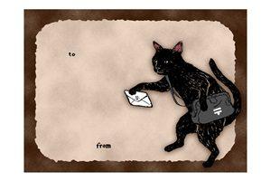 黒猫 イラスト 手描き 手書き 無料 フリー