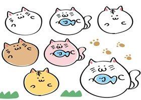 猫 イラスト ゆるい 無料 フリー