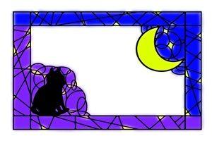 黒猫 イラスト フレーム 綺麗 無料 フリー