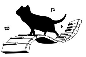 猫 イラスト シルエット 白黒 無料