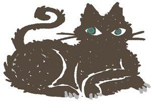 黒猫 イラスト おしゃれ クール 無料 フリー