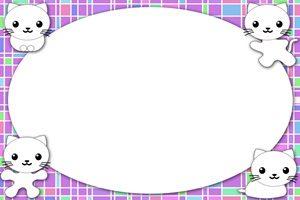 猫 白猫 イラスト フレーム 無料 フリー