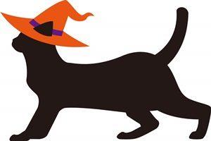 黒猫 イラスト オシャレ ハロウィン 無料 フリー