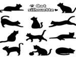 猫 イラスト シルエット 白黒 カラー 無料 おすすめ