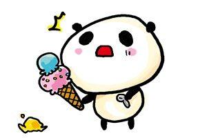 アイスクリーム 動物 パンダ イラスト 無料 フリー