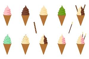 ソフトクリーム イラスト 無料 画像 素材