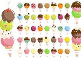 アイスクリーム イラスト おしゃれ かわいい 画像 素材 無料 フリー