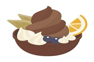 カップ ソフトクリーム チョコレート イラスト 無料 フリー