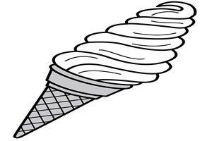 ソフトクリーム イラスト 無料 白黒 塗り絵