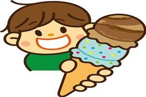 アイスクリーム 2段 男の子 食べる イラスト 無料 フリー