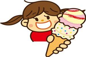 アイスクリーム 食べる 女の子 イラスト 無料 フリー