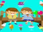 アイスクリーム 女の子 男の子 イラスト 無料 フリー