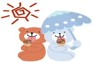 アイスクリーム イラスト クマ 無料 フリー