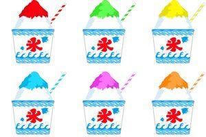 かき氷 お祭り シロップ イラスト 無料 フリー