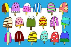 アイスキャンディー 棒アイス イラスト 手書き ポップ 無料 フリー
