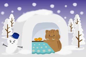猪 イラスト 雪 かまくら コタツ 雪だるま イラスト 無料 フリー 素材 年賀状