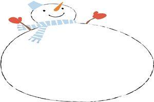 無料雪だるまの背景フレームのイラスト商用フリー じゃぱね
