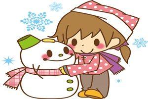 雪だるま 女の子 イラスト かわいい 無料 フリー
