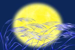 中秋の名月 十五夜 十三夜 お月見 満月 ススキ イラスト 無料 フリー