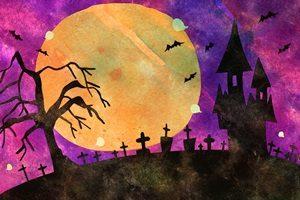 ハロウィン イラスト 城 かっこいい 手描き 無料 フリー