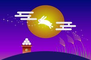 月兎 お月見 十五夜 十三夜 中秋の名月 イラスト 無料 フリー
