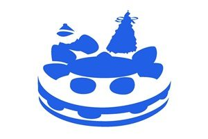 クリスマスケーキ イラスト シルエット カラーシルエット 無料 商用フリー