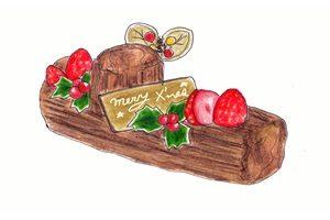 クリスマスケーキ イラスト 手書き 手描き 手作り 無料 商用フリー