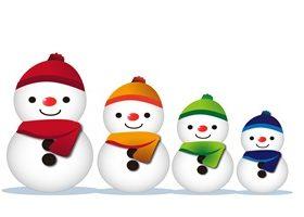 雪だるま 家族 イラスト 背景 フレーム 無料 フリー