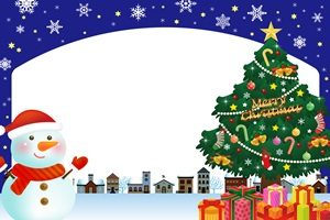 雪だるま クリスマス イラスト フレーム 無料 フリー