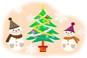 雪だるま クリスマスツリー イラスト 無料 フリー おしゃれ かわいい