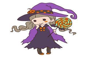 ハロウィン イラスト 女の子 かわいい 魔女