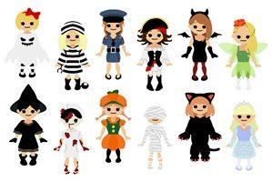 ハロウィン 仮装 コスプレ 女の子 イラスト 無料 フリー
