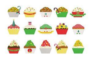 クリスマスケーキ カップケーキ イラスト かわいい 無料 商用フリー