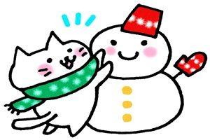 雪だるま ネコ イラスト 手書き 無料 フリー かわいい