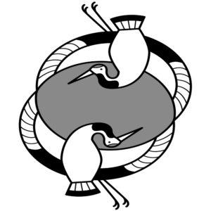 正月 鶴 イラスト 白黒 モノクロ 無料 商用フリー