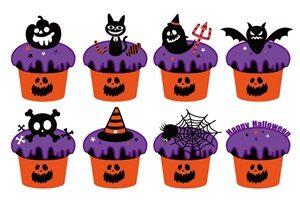 ハロウィン カップケーキ イラスト かわいい 無料 フリー