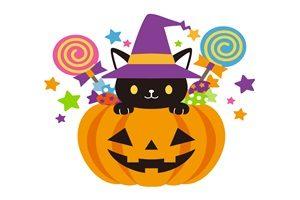 ハロウィン キャンディー 飴 黒猫 かぼちゃバケツ 無料 フリー