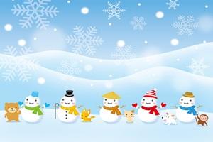 雪だるま 動物 イラスト 無料 フリー