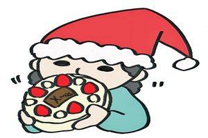 クリスマスケーキ 食べる イラスト 無料 商用フリー