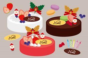クリスマスケーキ イラスト おしゃれ かわいい 無料 商用フリー