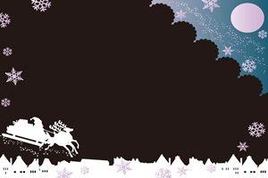 トナカイ イラスト 背景 壁紙 白黒 モノクローム シルエット 無料 商用フリー